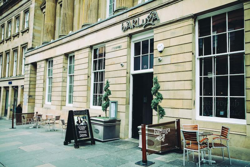 Modern restaurant table setting - Barluga Restaurant Amp Bar Grey Street Newcastle