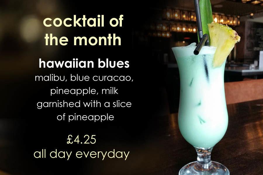 cocktail of the month at barluga morpeth